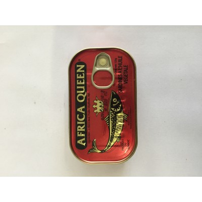 Africa Queen Sardines In Oil 125gr