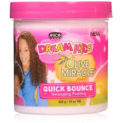 African Pride Dream Kids Olive Miracle Bounce Hair Pudding, 425g