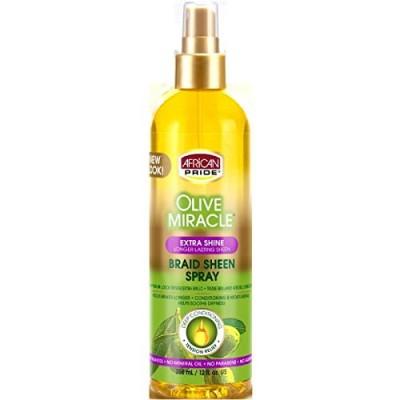 African Pride Braid Sheen Spray Olive Miracle 355ml