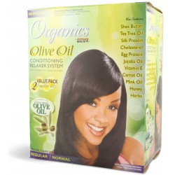 Africa's Best Olive Oil Twin Pack Relaxer Kit Regular