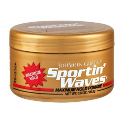 Soft Sheen Sportin Waves Maximum Hold Pomade 3.5oz
