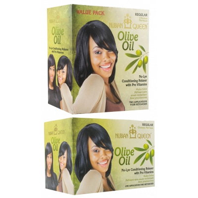 Nubian Queen Olive Oil No Lye Twin Pack Regular Relaxer