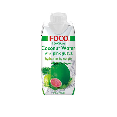 Coconut water with pink guava 350ML